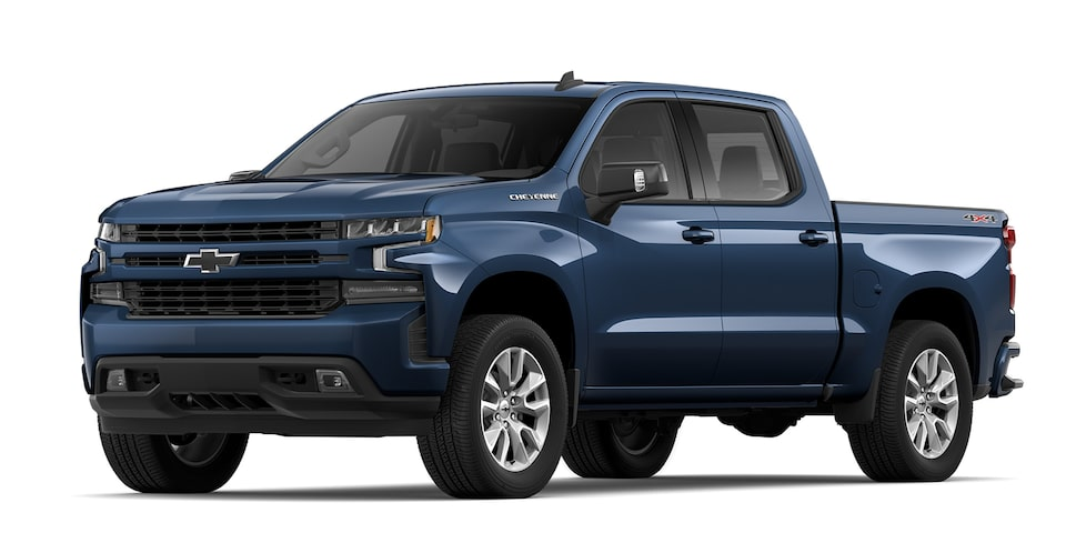 Cheyenne 2020 RST pickup doble cabina de Chevrolet en color azul
